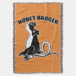 Honey badger throw blanket