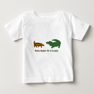 Honey Badger VS Crocodile Baby T-Shirt