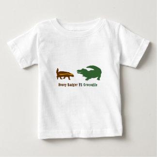 Honey Badger VS Crocodile Baby T-Shirt