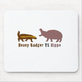 Honey Badger vs Hippo Mouse Pad
