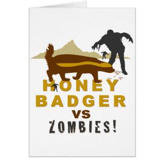 honey badger vs zombies card