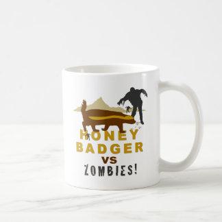 honey badger vs zombies coffee mug
