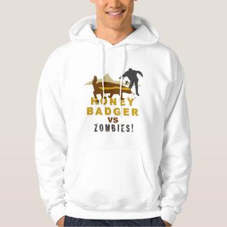 honey badger vs zombies hoodie