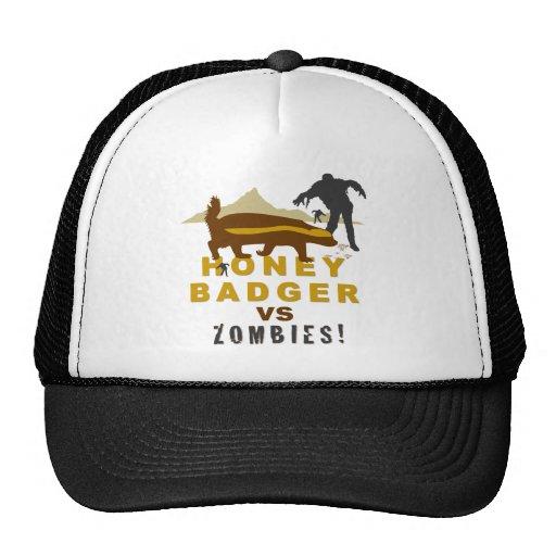 honey badger vs zombies mesh hat