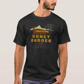 honey badger vs zombies T-Shirt