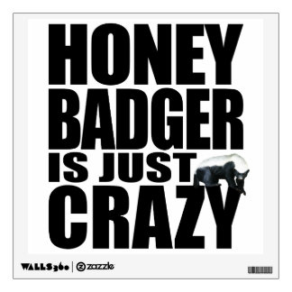 Honey Badger Wall Decal