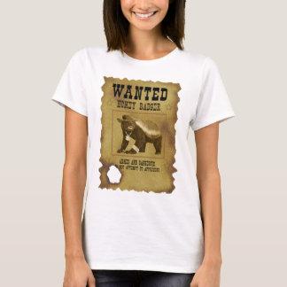 Honey Badger Wanted Poster T-Shirt