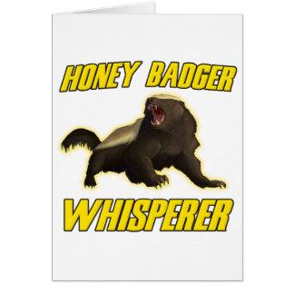 Honey Badger Whisperer Card