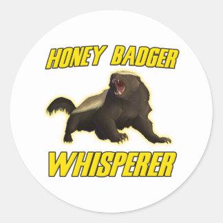 Honey Badger Whisperer Classic Round Sticker