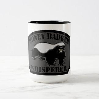 Honey Badger Whisperer Two-Tone Coffee Mug