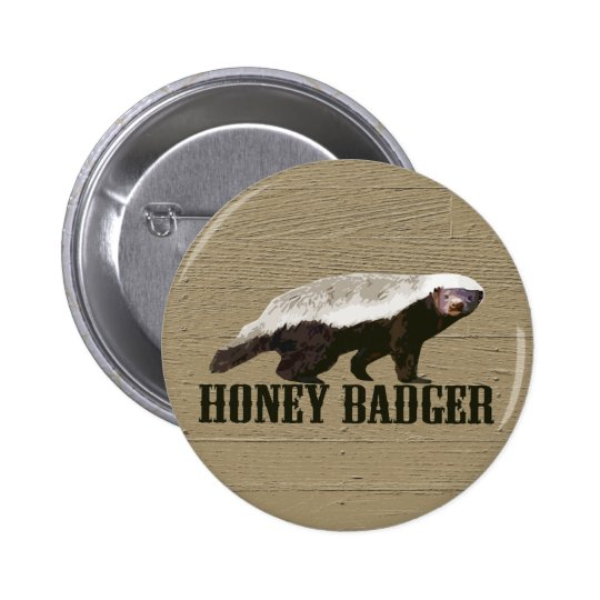 Honey Badger Wild Animal Pinback Button
