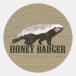 Honey Badger Wild Animal Stickers