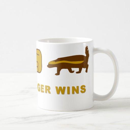 honey badger wins coffee mug