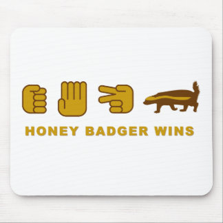 honey badger wins mouse pads