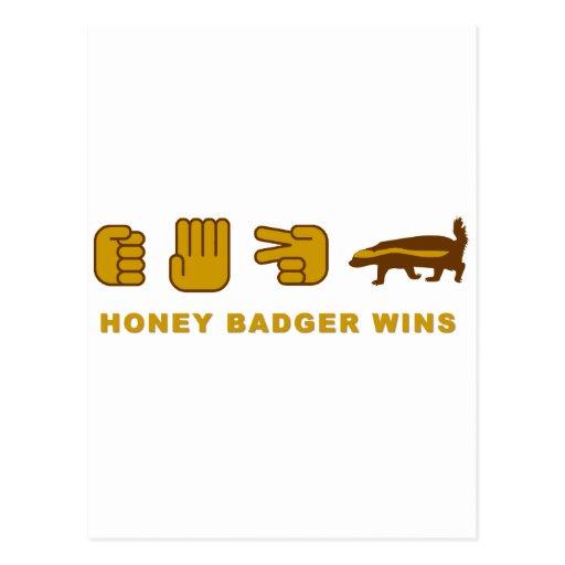 honey badger wins post card