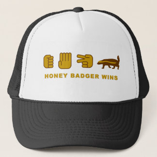honey badger wins trucker hat