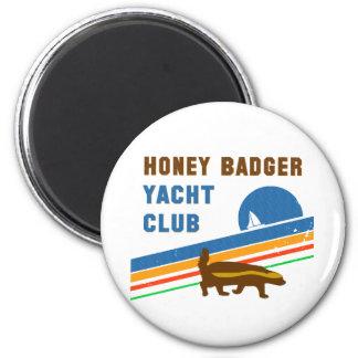 honey badger yacht club 2 inch round magnet