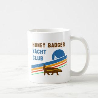 honey badger yacht club classic white coffee mug