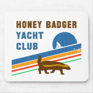 honey badger yacht club mouse pad