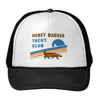 honey badger yacht club trucker hat