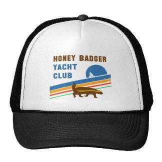 honey badger yacht club trucker hat