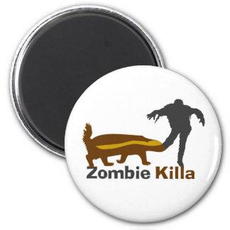 Honey Badger Zombie Killa 2 Inch Round Magnet