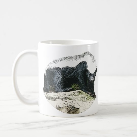 Honey Badgers are Badass coffee cup