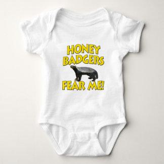 Honey Badgers Fear Me! Baby Bodysuit