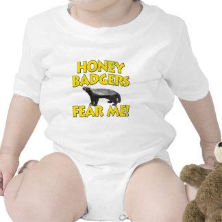 Honey Badgers Fear Me! Rompers