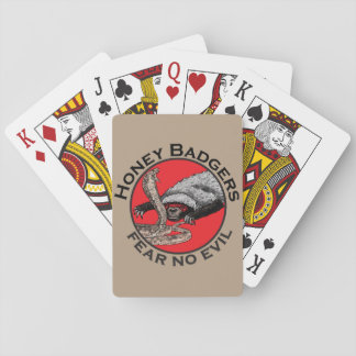 Honey Badgers 'fear no evil' Card Decks