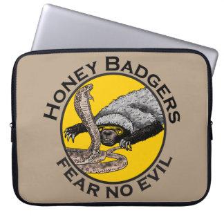 Honey Badgers 'fear no evil' Laptop Computer Sleeves