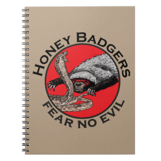 Honey Badgers 'fear no evil' Notebook