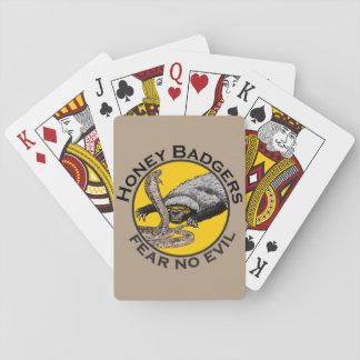 Honey Badgers 'fear no evil' Poker Cards