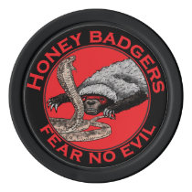 Honey Badgers 'fear no evil' Poker Chips