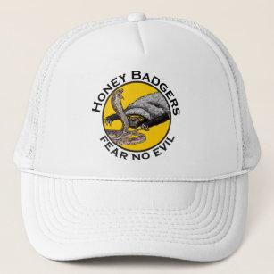 5c6010d44ba Honey Badgers Fear no Evil Yellow Scary Animal Art Trucker Hat