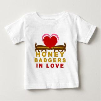 Honey Badgers In Love Baby T-Shirt