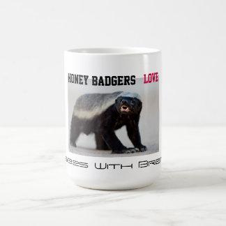 Honey Badgers Love Babes with Brains (Image) Coffee Mug