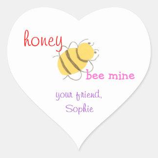 Honey be mine personalized valentine sticker