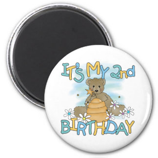 Honey Bear 2nd Birthday T-shirts and Gifts 2 Inch Round Magnet