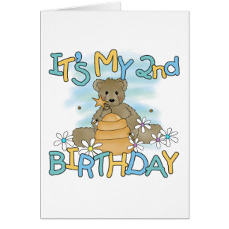Honey Bear 2nd Birthday T-shirts and Gifts Card