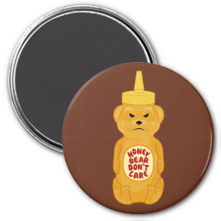Honey Bear 3 Inch Round Magnet