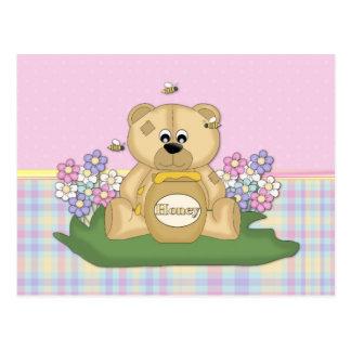 Honey Bear 4 Postcard