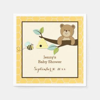 Honey Bear and Bee Customized Napkins