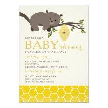 Honey Bear Baby Shower Invitation