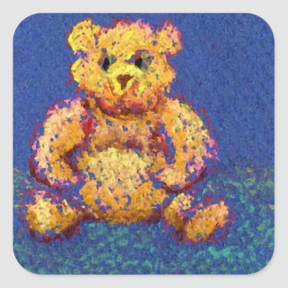 "Honey Bear ""Bears, Bears, Bears"" Square Sticker"