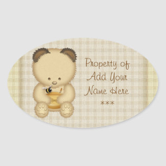 Honey Bear Bookplate Stickers