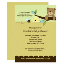 Honey Bear & Bumble Bee Baby Shower Invitation