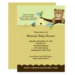 Honey Bear U0026 Bumble Bee Baby Shower Invitation