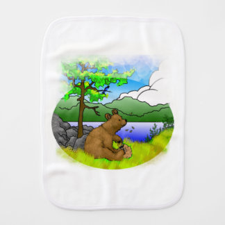 """Honey Bear"" Burping Cloth"