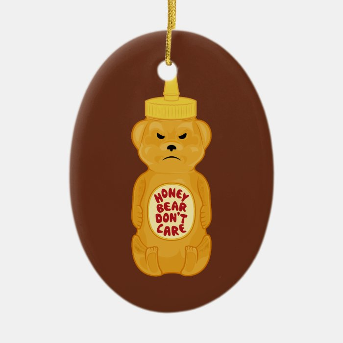 Honey Bear Ceramic Ornament